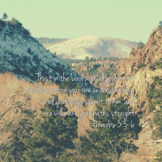 Proverbs 3, 5-6