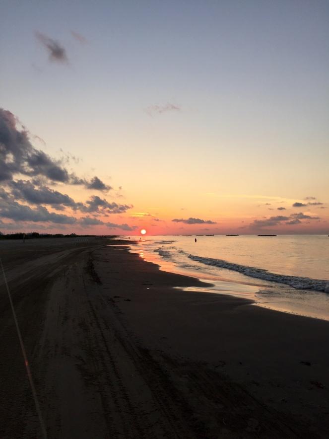 Surf Fishing Sunrise - Grand Isle 2016