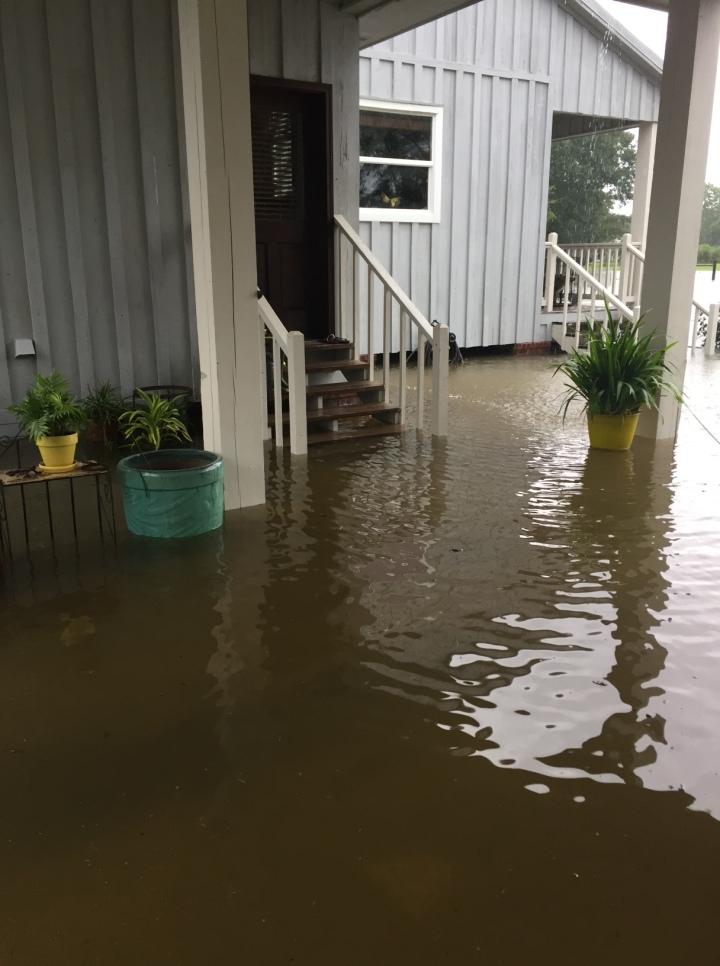 Flooded Carport