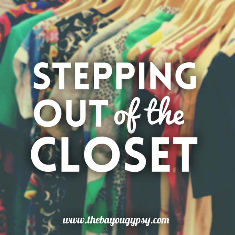 Stepping out of the Closet Graphic