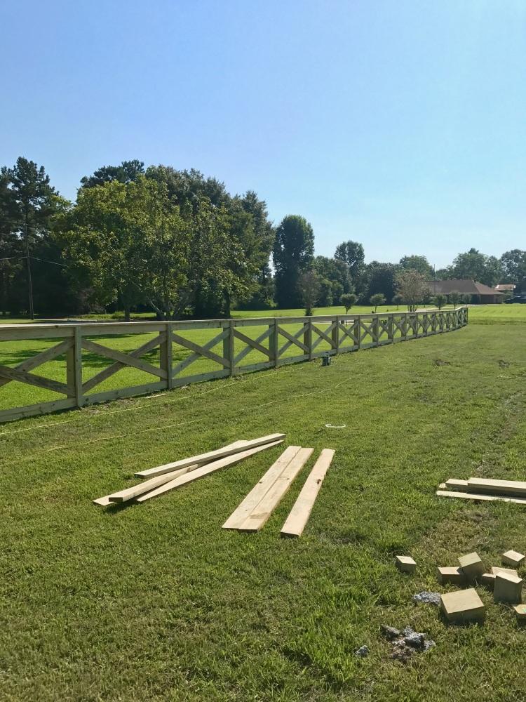 Day 3 Fence Progress