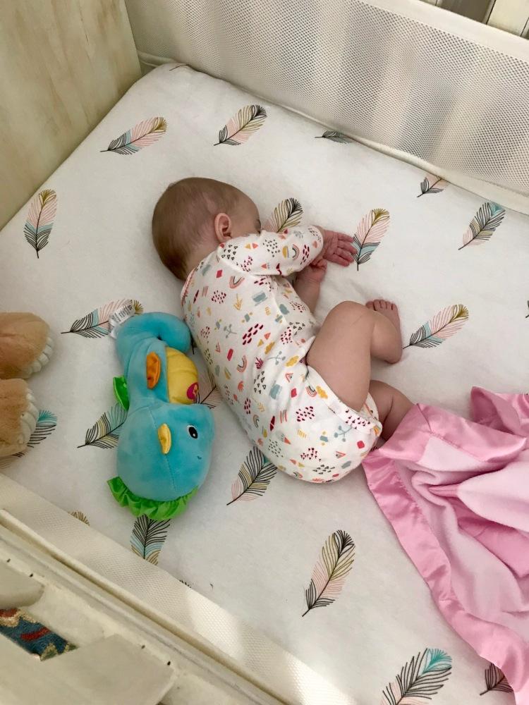 Lucy in big girl crib