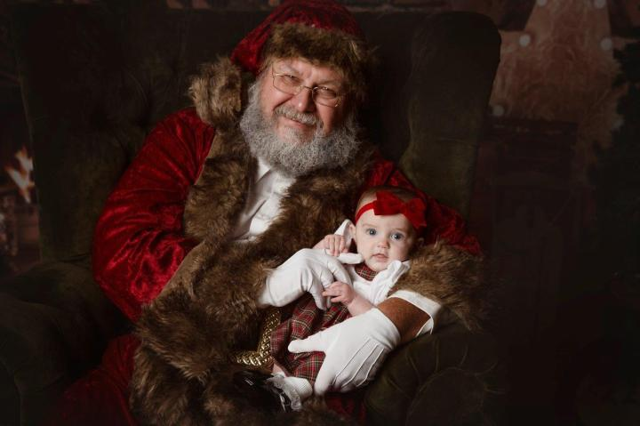 Lucy with Santa
