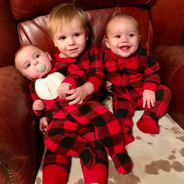 Spivey babies at christmas
